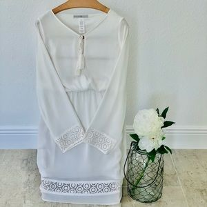 🌼Beautiful White Mid Vintage Dress🌼